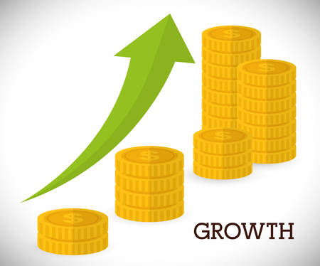 financial growth: Financial growth design, vector illustration eps 10.