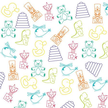 Baby-Spielzeug-Design, Vektor-Illustration eps 10.