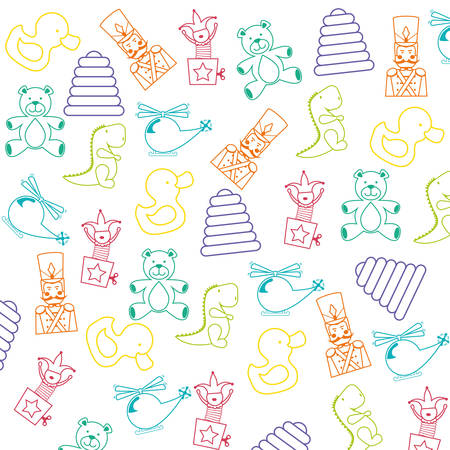 kids and toys: Baby toys design, vector illustration eps 10. Illustration