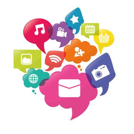 network devices: Social media design, vector illustration eps 10.