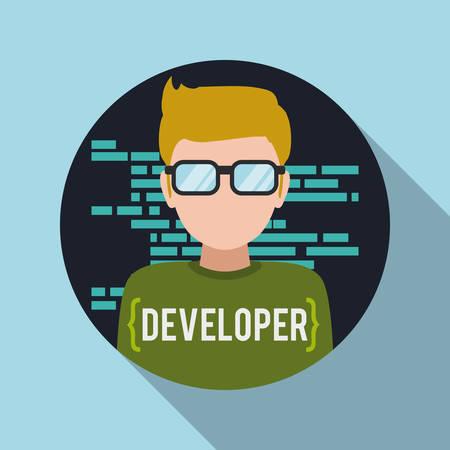 Web developer design, vector illustration eps 10.