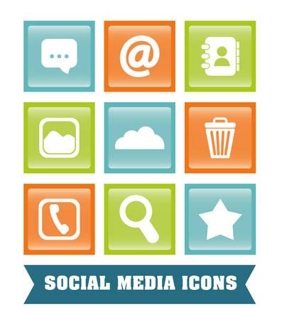 phonebook: Social media design, vector illustration eps 10.