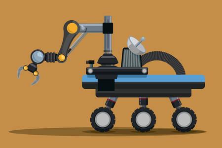 exploration: Robot digital design, vector illustration eps 10.