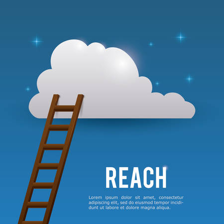 reach: Reach digital design, vector illustration eps 10. Illustration