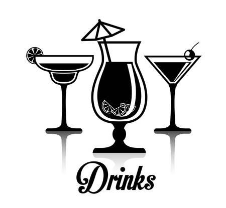 unbranded: Drinks digital design, vector illustration eps 10.