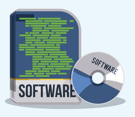 software design: Software digital design, vector illustration eps 10.