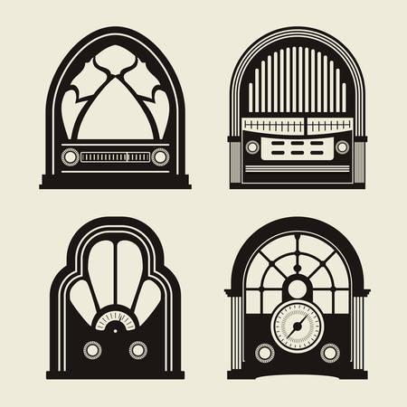 Diseño de radio vintage, ilustración vectorial eps 10.