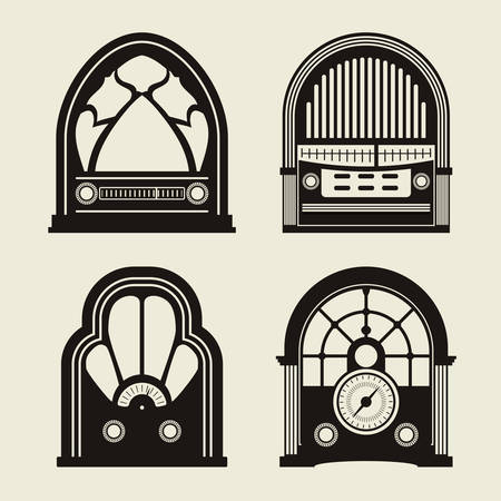 radio button: Radio vintage design, vector illustration eps 10. Illustration