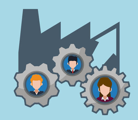 wheel of fortune: Human resources design, vector illustration eps 10.
