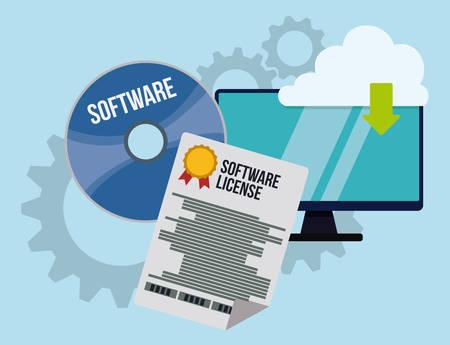 software engineering: Software digital design, vector illustration eps 10.