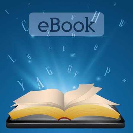 book concept: Ebook digital design, vector illustration eps 10.