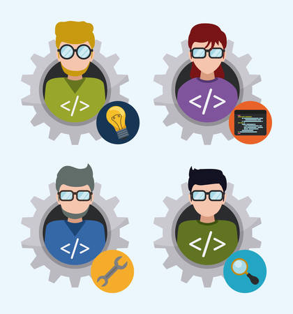 web developer: Web developer design, vector illustration eps 10. Illustration