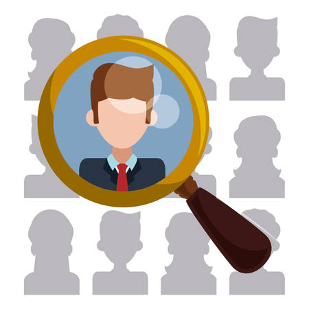 executive search: Human resources design, vector illustration eps 10.