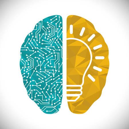 인간의 두뇌 디자인, 벡터 일러스트 레이 션 (10)를 주당 순이익.