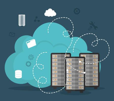 Database digital design, vector illustration eps 10.