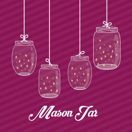 mason: Jar mason design, vector illustration eps 10. Illustration