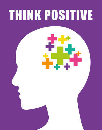 Think positive design, vector illustration eps 10.