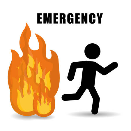 evacuation equipment: Emergency digital design, vector illustration eps 10.