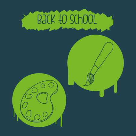 commercial painting: Back to school digital design, vector illustration 10 eps graphic Illustration
