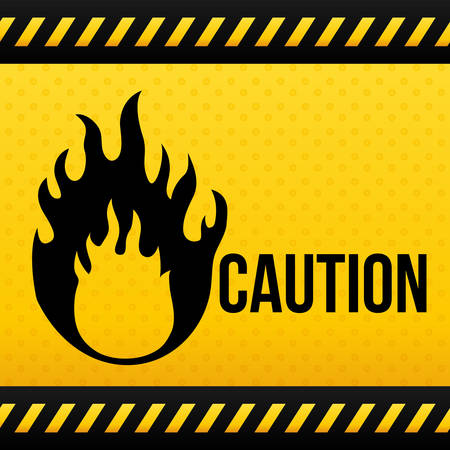 construction icons: Warning sign digital design, vector illustration 10 eps graphic Illustration