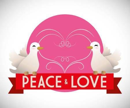 Peace digital design, vector illustration 10 eps graphic Illustration
