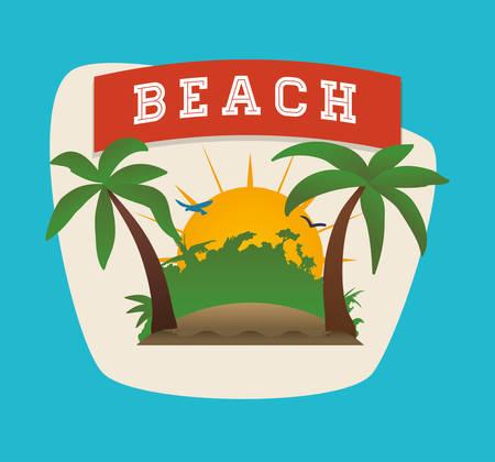 palmtree: Summertime digital design, vector illustration 10 eps graphic