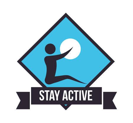 be: Be Active digital design, vector illustration 10 eps graphic Illustration