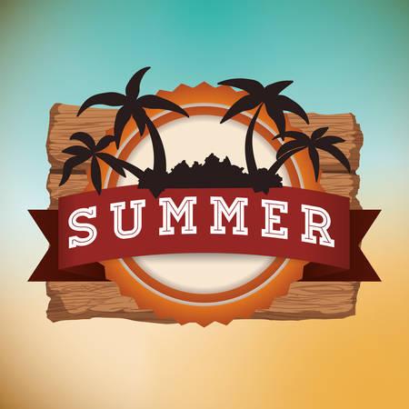 palmtrees: Summertime digital design, vector illustration graphic