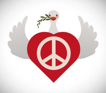affecting: Peace digital design, vector illustration 10 eps graphic Illustration