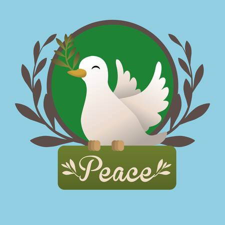 pacificist: Peace digital design, vector illustration 10 eps graphic Illustration