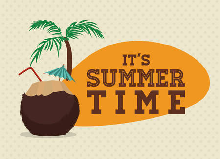 palmtrees: Summertime digital design, vector illustration 10 eps graphic