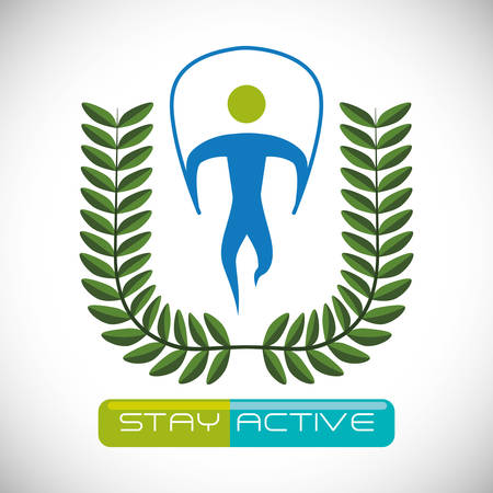 to be: Be Active digital design, vector illustration graphic