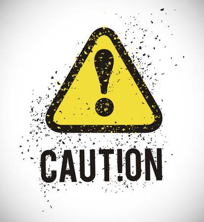 warnings: Warning sign digital design, vector illustration  graphic
