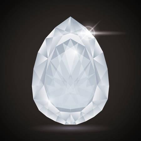 30s: Luxury diamond design, vector illustration eps 10.