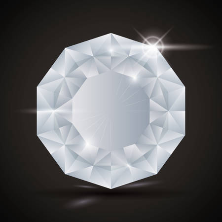 diamond shape: Luxury diamond design, vector illustration eps 10.