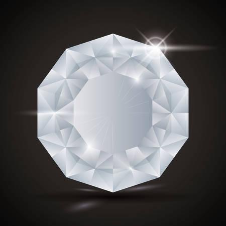 adamant: Luxury diamond design, vector illustration eps 10.