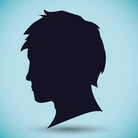 male face: Young people design, vector illustration eps 10.