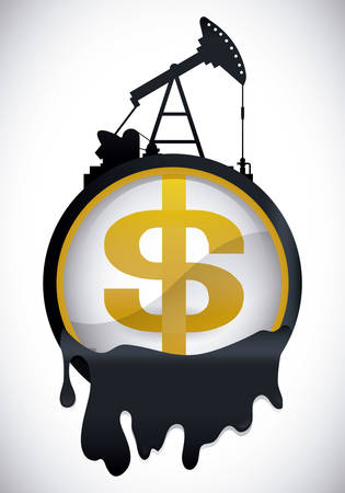 price development: Petroleum industry design, vector illustration eps 10. Illustration