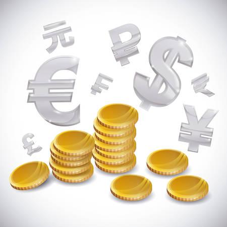 rupee: Global economy design, vector illustration eps 10.
