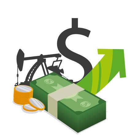 financial concept: Petroleum industry design, vector illustration eps 10. Illustration