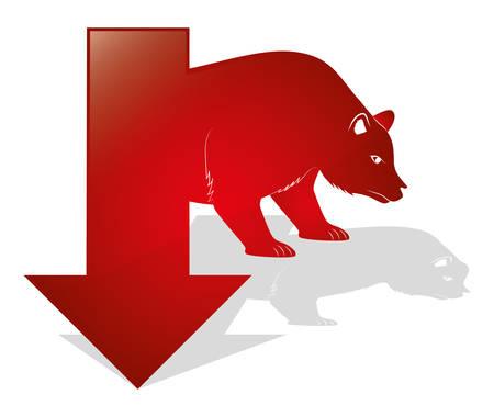 bear market: Business stock exhange design, vector illustration eps 10. Illustration