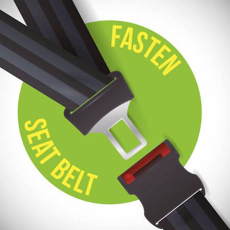 road sign of fasten belt design, vector illustration 10 eps graphic  イラスト・ベクター素材