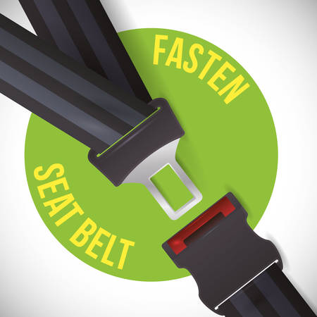 road sign of fasten belt design, vector illustration 10 eps graphic Çizim