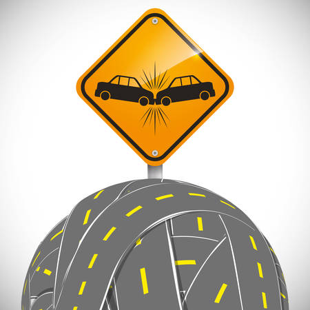 advert: car accident advert design, vector illustration 10 eps graphic Illustration