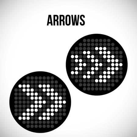 pointed arrows: Arrow digital design, vector illustration 10 eps graphic Illustration