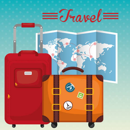travel baggage digital design, vector illustration 10 eps graphic