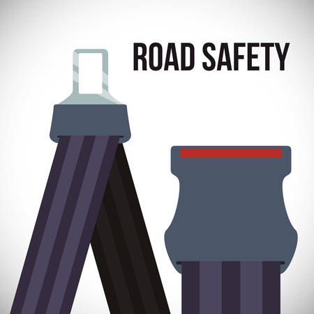 to fasten: road sign of fasten belt design, vector illustration 10 eps graphic Illustration