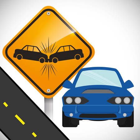 advert: car accident advert design, vector illustration 10 eps graphic Illustration