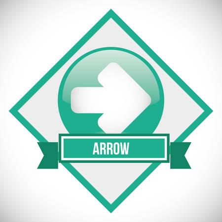 seal stamp: Arrow design  over seal stamp, vector illustration 10 eps graphic Illustration