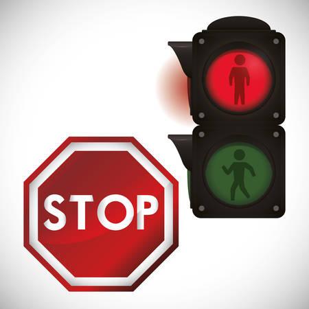 stop sign design, vector illustration 10 eps graphic Ilustracja